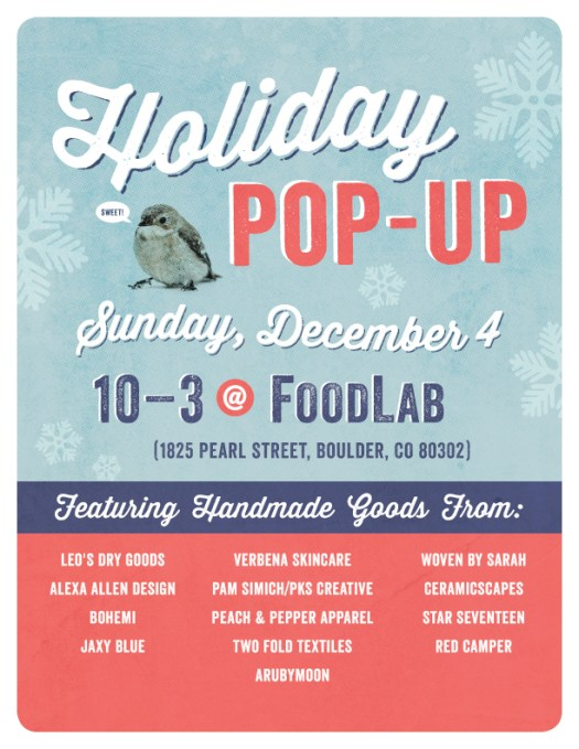 Holiday Pop Up - Food Lab