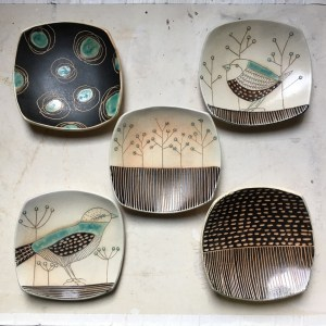Cindy Guajardo - Illustrated Pottery Dishes
