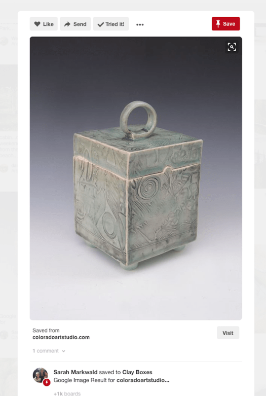 Covered Box Pinned from Colorado Art Studio