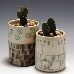 Cindy Guajardo - Handmade Soda Fired Pottery Planters