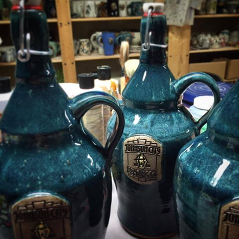 LaPella Pottery - Wheel Thrown Growlers Made For Johnson City Brewing