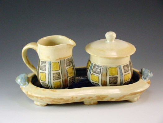 Sarah Christensen Ceramics - Sugar and Creamer Set