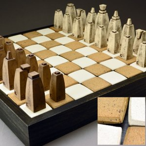 Jim Bridgeman Ceramic Artist - Ceramic Chess Set