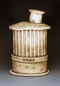 Jim Bridgeman Ceramic Artist - Ceramic Dream Bottle