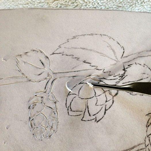 Jackson Gray of JackPots Pottery - Carving a Linoleum Mat