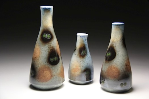 Jamie Kelly of Red Beard Studio - Soda Fired Bud Vases
