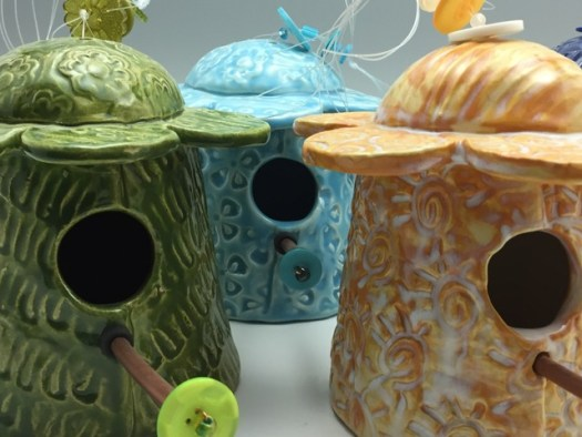 Laura Silberman of Clay by Laura - Bird Houses