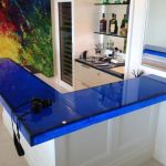 Blue Cycled Glass-with LED light- Hawai_preview