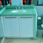 Green Cycled Glass vanitytop with waterfall edge side_preview