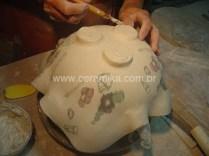 porcelana com tecnica neriage ou nerikomi