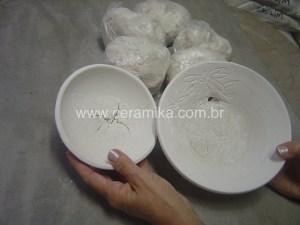 defeito durante a secagem da porcelana