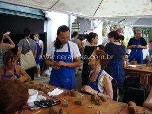 Marcelo Tokai oficina de ceramica Palacio do Horto