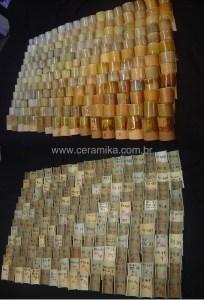 variados amarelos nos esmaltes ceramicos