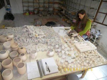 preparo de testes de esmalte ceramico
