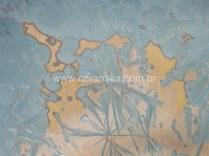 cristais formados em vidro ceramico