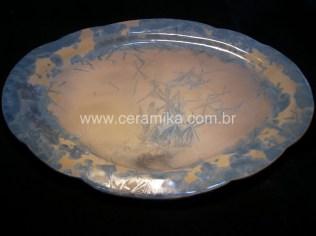 macro cristalizações em travessa oval