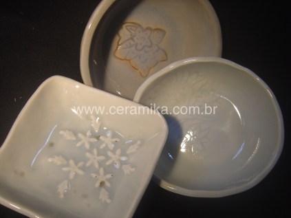 testes com esmalte ceramico celadon