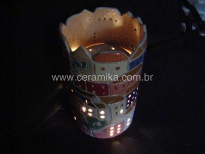 luminaria em ceramica de alta temperatura