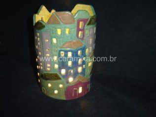 luminaria em argila