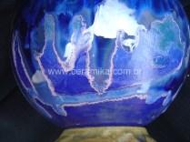 esmalte ceramico escorrido com cristais