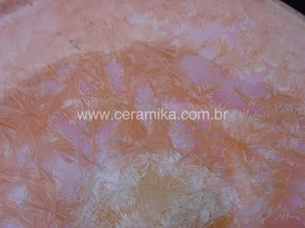 formação de cristais no vidro