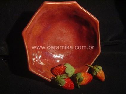 vidrado vermelho de redução na ceramica