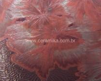 cristais vermelhos em redução