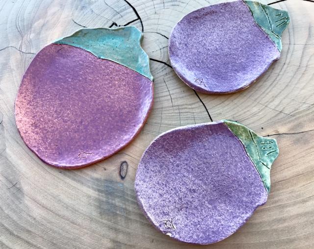 Plat Aubergine - objets céramiques