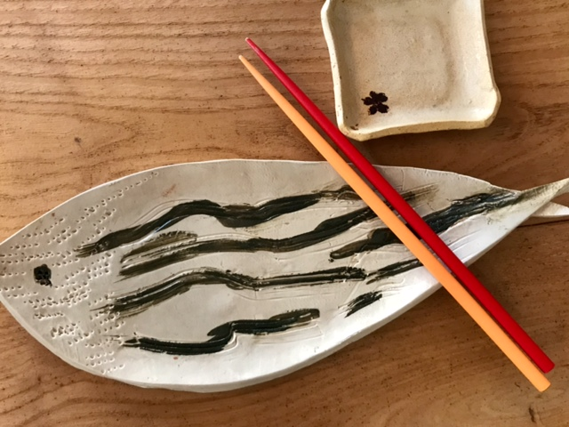 Plat poisson - objets céramiques