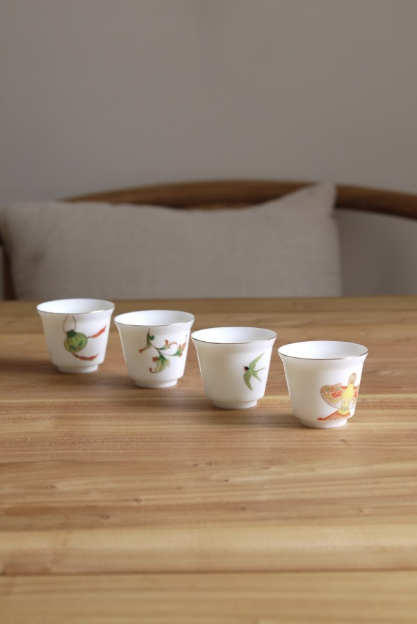 Dehua Blanc De Chine Seasons Kungfu Teacup Set | Ceramitique