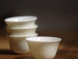 Vintage Blanc De Chine Gongfu Teacup Ceramitique
