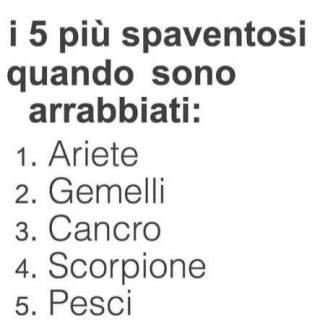 i 5 più spaventosi quando sono arrabbiati