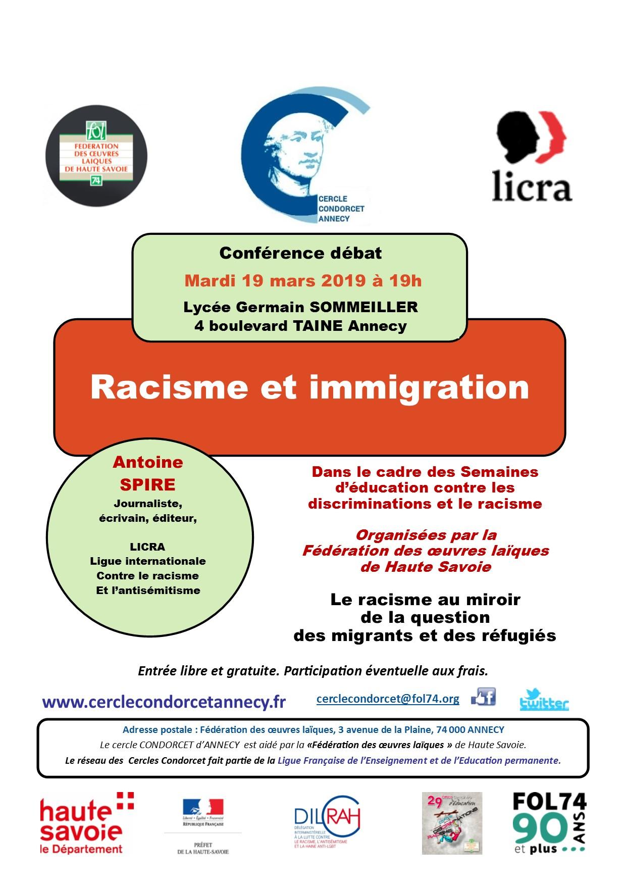 AFFICHE RACISME et immigration recto 4 SPIRE