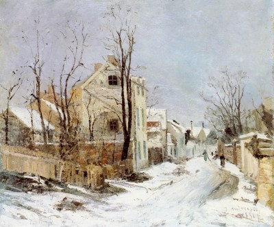 Andresco Ion - 1880 Barbizon sous la neige - Bucarest .jpeg