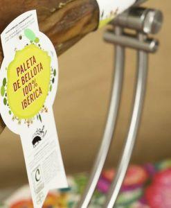 Detalle de etiqueta de Paleta de Bellota 100% Ibérica de Cerdoh!