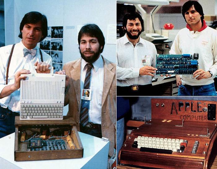 Steve Jobs y Steve Wozniak presentando la Apple I