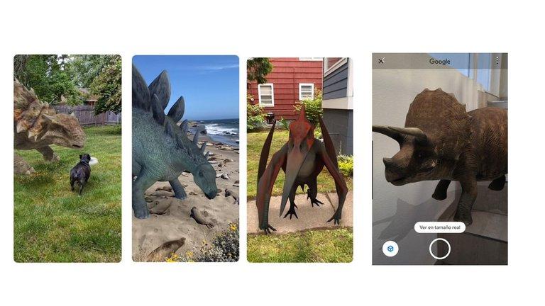 Google trae dinosaurios en realidad aumentada