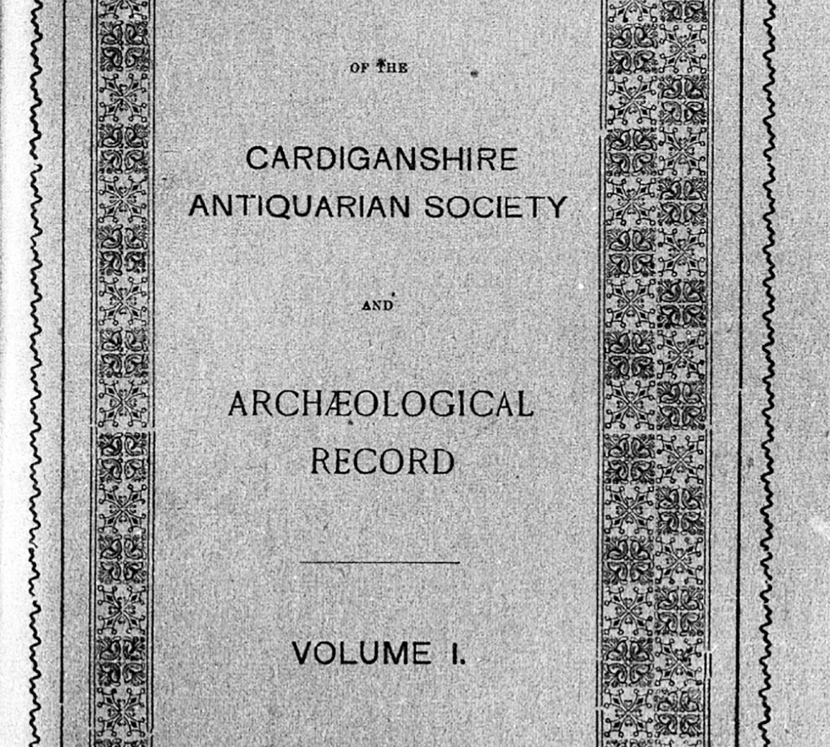 CEREDIGION HISTORICAL SOCIETY