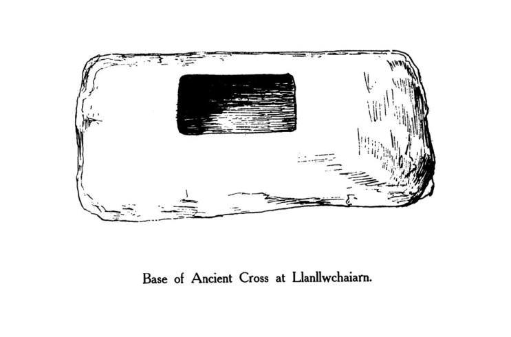 Base of Ancient Cross at Llanllwchaiarn