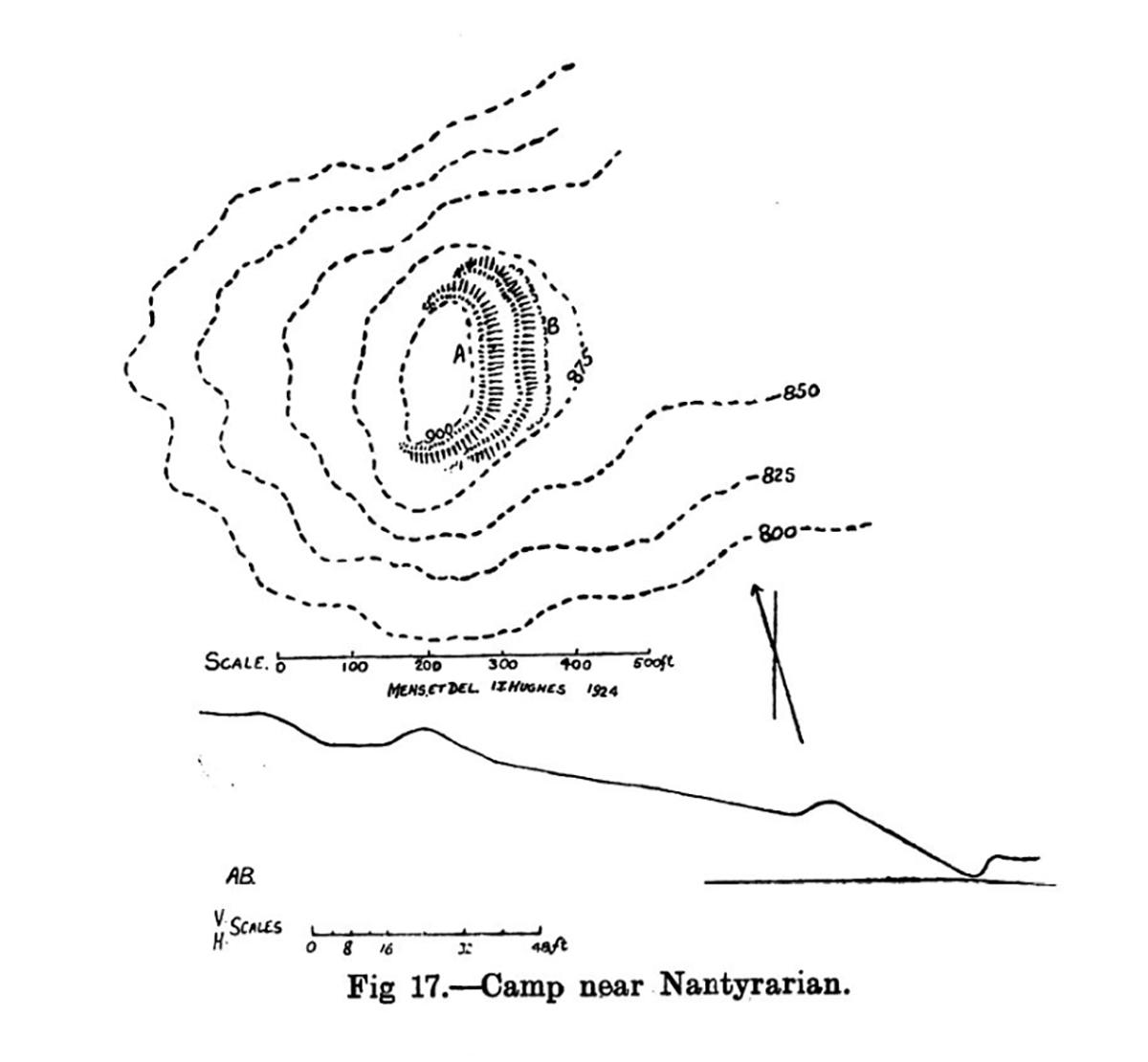 Site plan of Camp near Nantyrarian