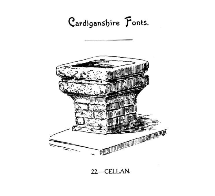 Cardiganshire Fonts - Cellan