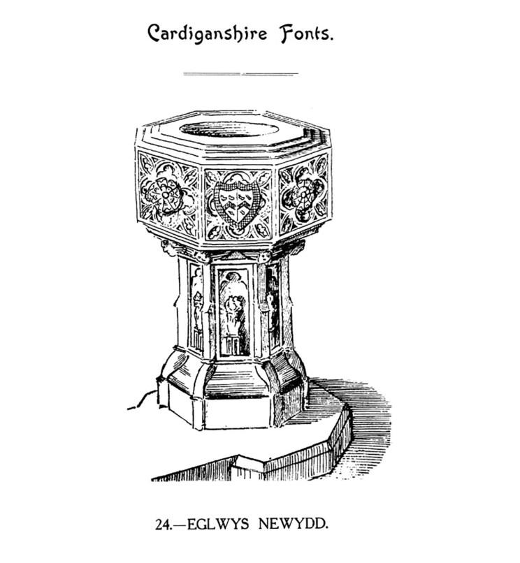 Cardiganshire Fonts - Eglwys Newydd