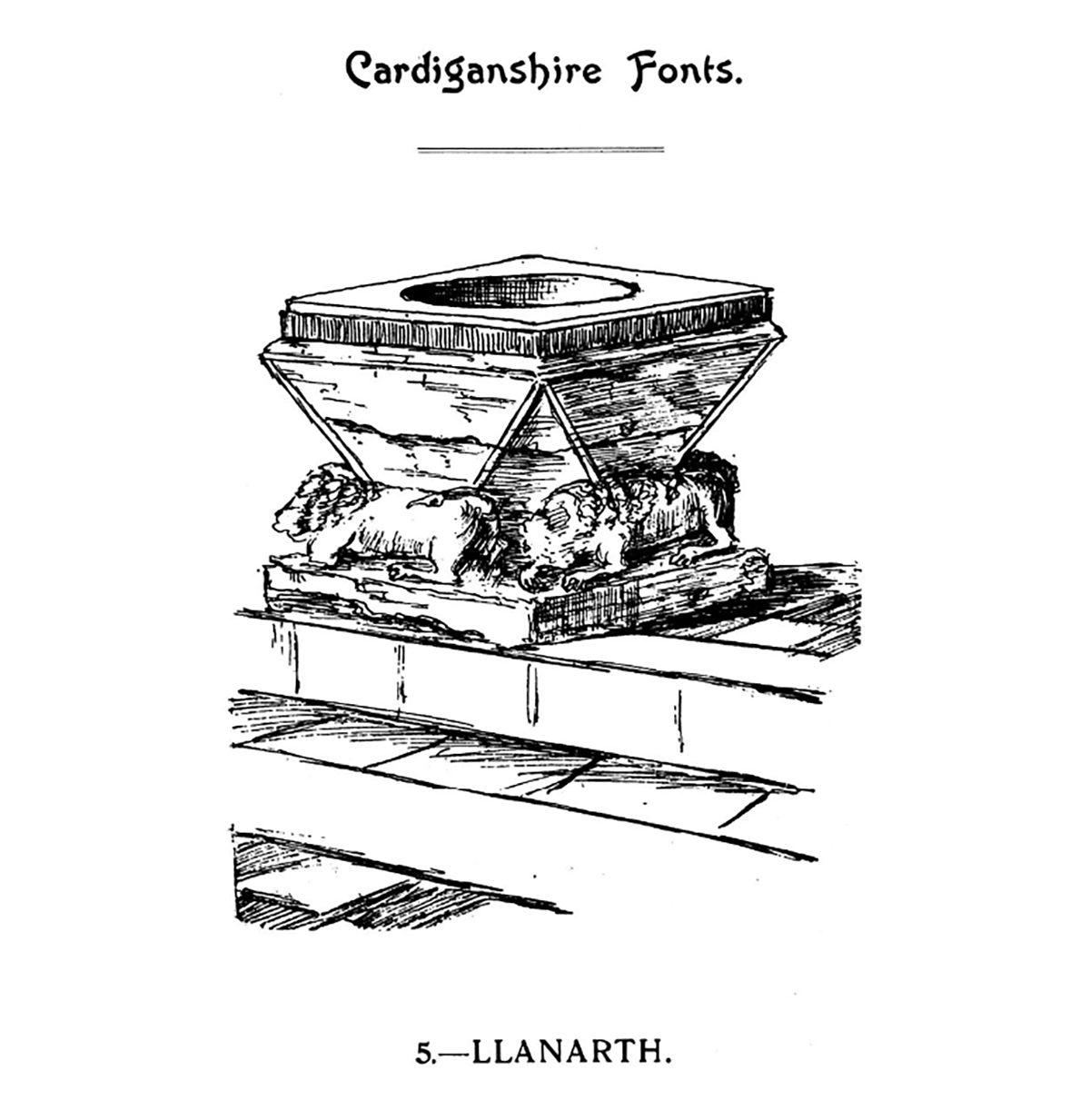 Bedyddfeini Sir Aberteifi - Llanarth