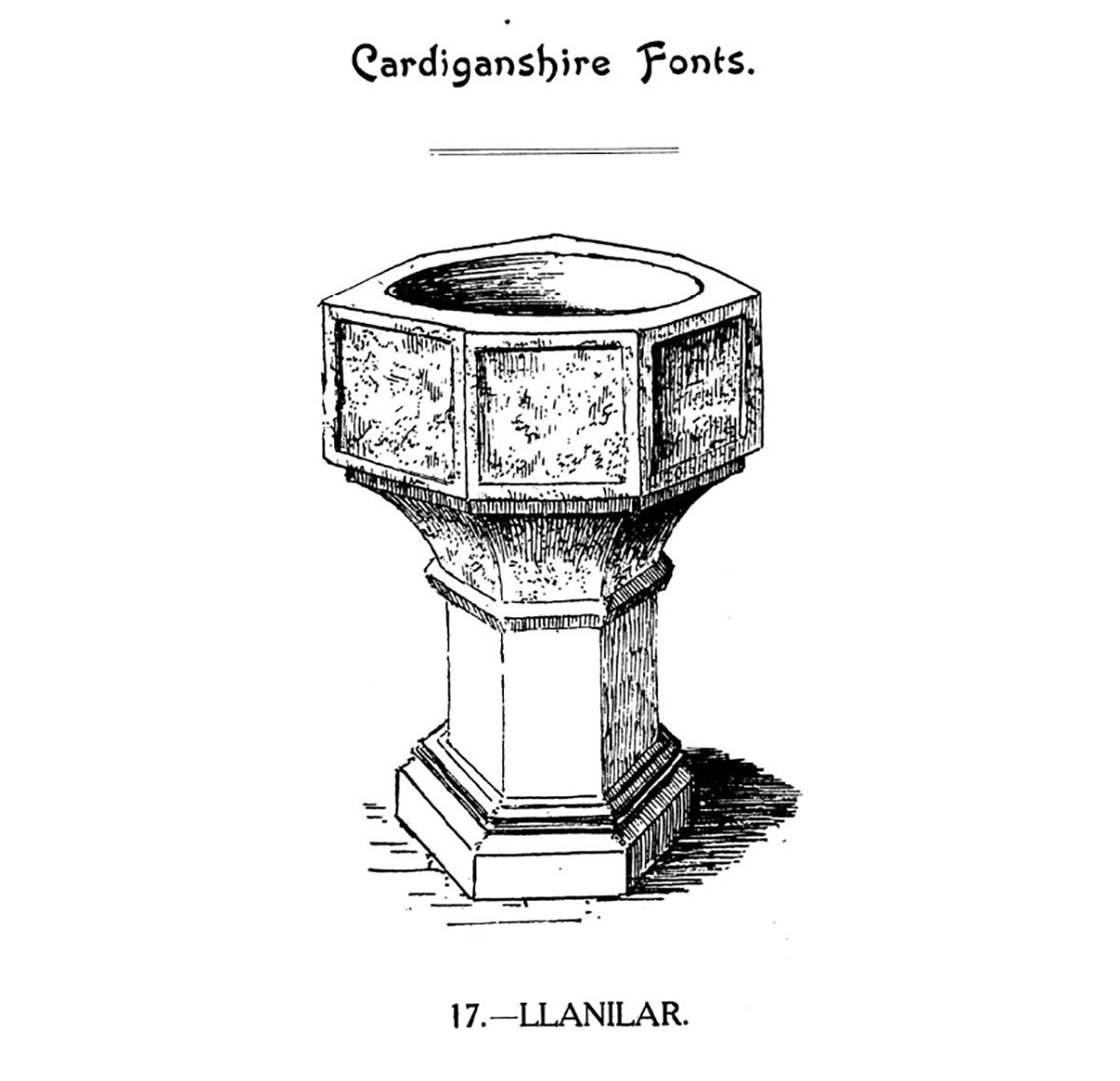 Cardiganshire Fonts - Llanilar