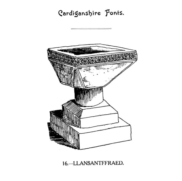 Cardiganshire Fonts - Llansantffraed