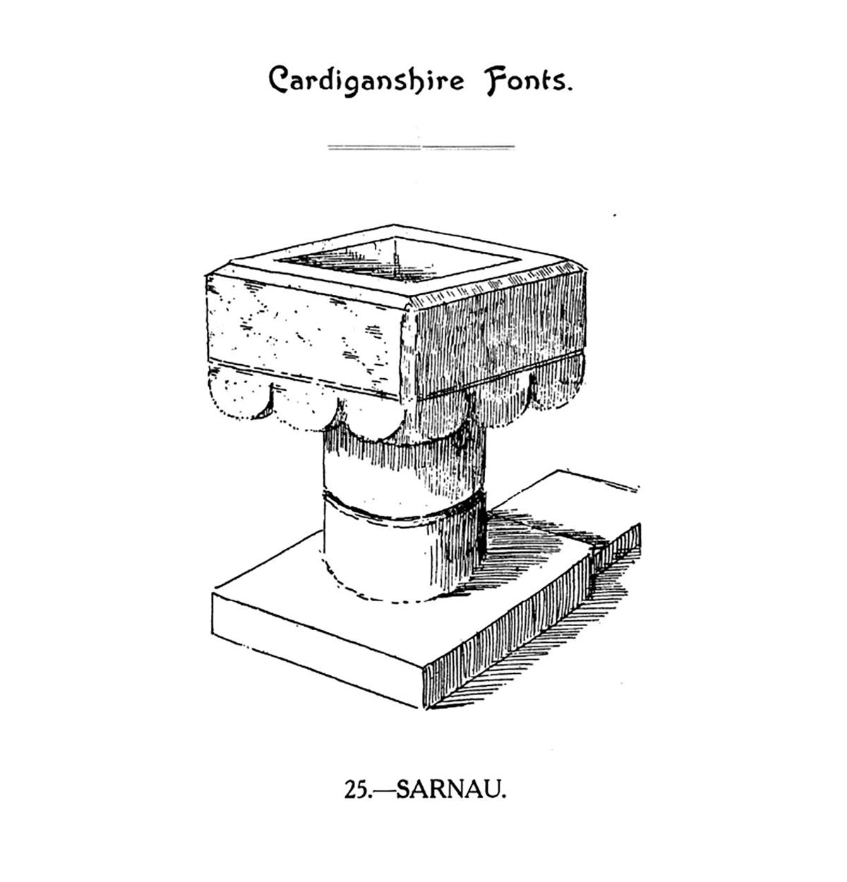 Cardiganshire Fonts - Sarnau