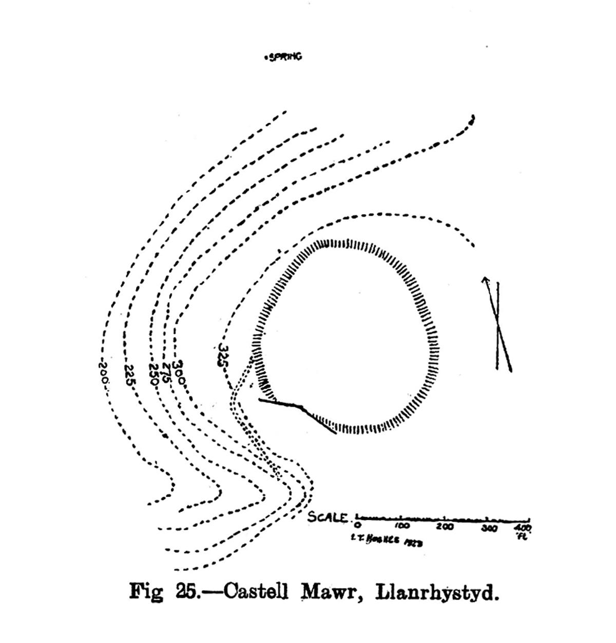 Site plan Castell Mawr Llanrhystyd