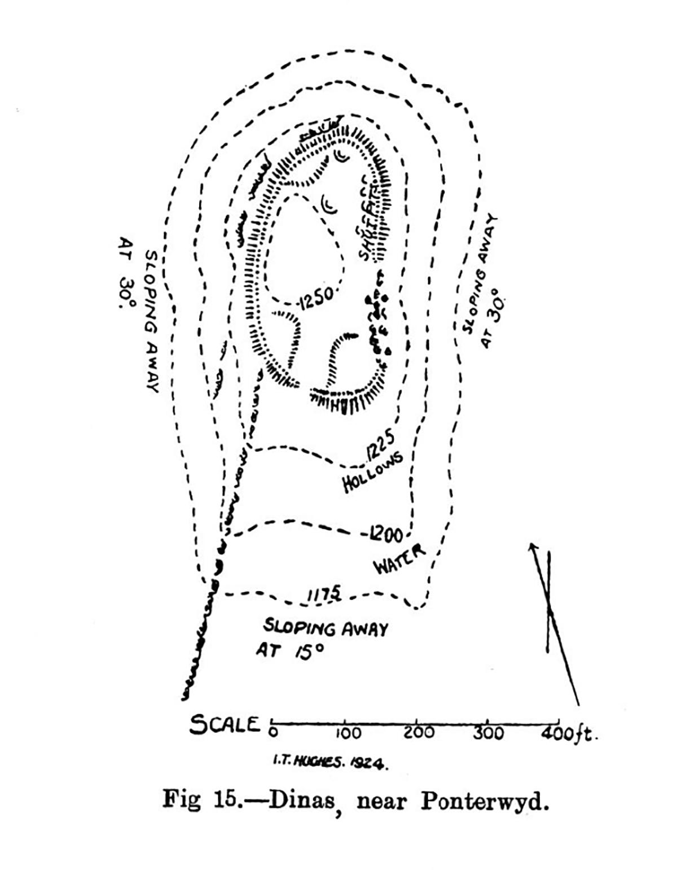Site plan Dinas near Ponterwyd