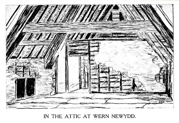 In the Attic at Wern Newydd, Llanarth, Ceredigion