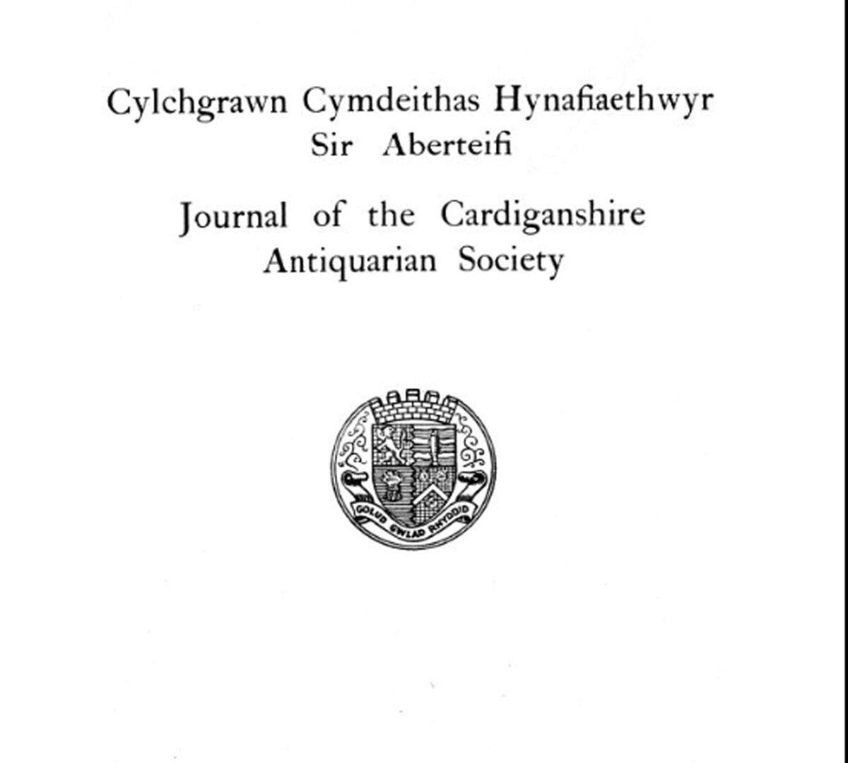 CEREDIGION HISTORICAL SOCIETY